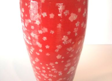Decorative objects - Red vase - BAUDTOUN