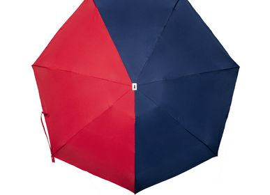Travel accessories / suitcase - Bicolour micro-umbrella - navy & red - Emile - ANATOLE