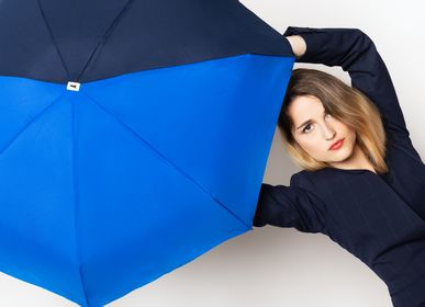Apparel - Bicolour micro-umbrella - royal blue & navy - Victoire - ANATOLE