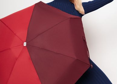 Apparel - Bicolour micro-umbrella - red & burgundy - Jules - ANATOLE