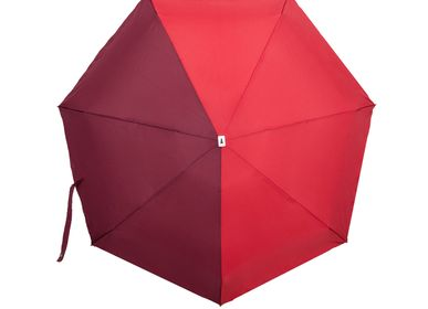 Travel accessories / suitcase - Bicolour micro-umbrella - red & burgundy - Jules - ANATOLE