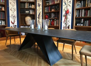Dining Tables - Ceramic dining table, foot GHOST - COLOMBUS MANUFACTURE FRANCE