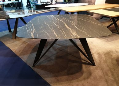 Dining Tables - Ceramic dining table, MYSTIC leg - COLOMBUS MANUFACTURE FRANCE