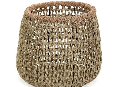 Decorative objects - AF365 - Open weaved basket w/ rope border - MAISON PEDERREY / TONI VAN PARIJS