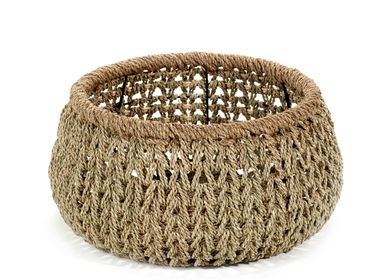 Decorative objects - AF366 - Open weaved basket w/ rope border - MAISON PEDERREY / TONI VAN PARIJS