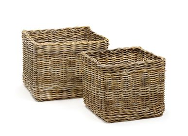 Decorative objects - AF435 - Square basket set/2 - MAISON PEDERREY / TONI VAN PARIJS