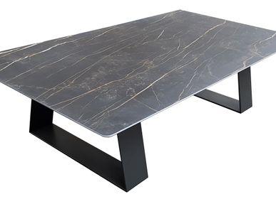 Coffee tables - Table basse céramique, modèle TOPAZE - COLOMBUS MANUFACTURE FRANCE