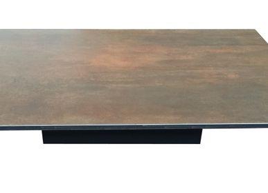 Tables basses - Table basse céramique, modèle DARKA - COLOMBUS MANUFACTURE FRANCE