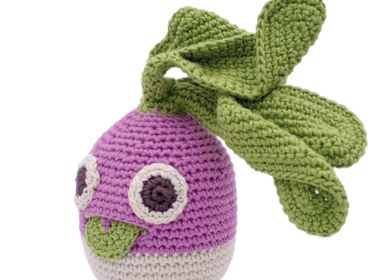 Gifts - BARNEY TURNIP - BABY RATTLE 100% ORGANIC COTON - MYUM - THE VEGGY TOYS