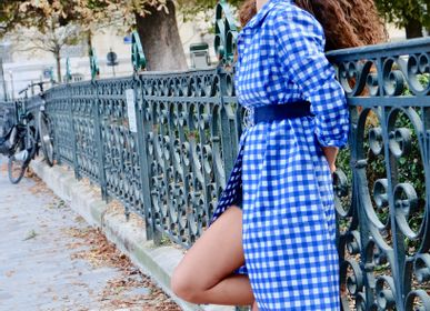 Prêt-à-porter - Imperméable Vichy bleu - PETALSTREAM