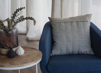 Cushions - Portsalon Cushion - Baby Blue - STOKER MILLS IRISH LINEN