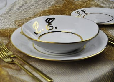 Tea / coffee accessories - Gold Rim | Hand Painted|Made in Italy - ARCUCCI TRADE SRL