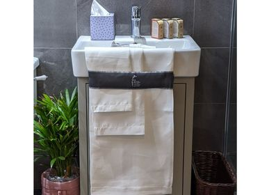 Bath towels - Linen Hemstitched Huckaback Towels - FERGUSON'S IRISH LINEN