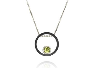 Jewelry - Carbon Circle Necklace - INSOLITE JOAILLERIE