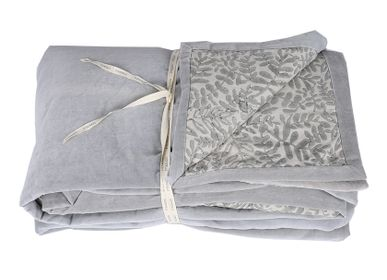 Bed linens - Boutis Velourama - Shadow Grey 170 x 250 cm - CONSTELLE HOME