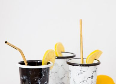 Mugs - Enamelled tumblers from the Bubble collection - ELIFLE ENAMELWARE