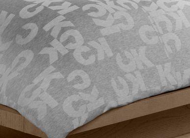 Bed linens - Monogram Heather Grey / Duvet Set - CALVIN KLEIN