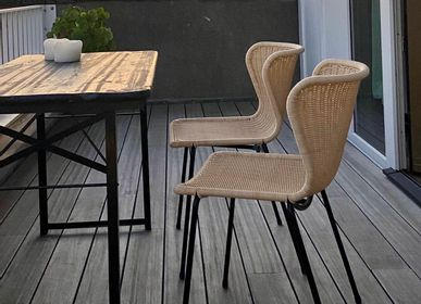 Chairs - C603 chair black/reed* outdoor | chairs - FEELGOOD DESIGNS