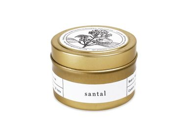 Christmas decoration - Sandalwood Gold Travel Candle - BROOKLYN CANDLE STUDIO