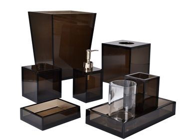 Waste baskets - Lucite Bath Accessories - MIKE + ALLY