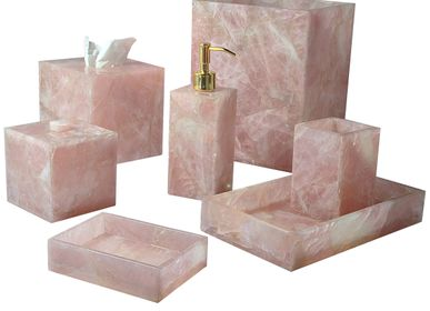 Waste baskets - Gemstone Bath Accessories - MIKE + ALLY