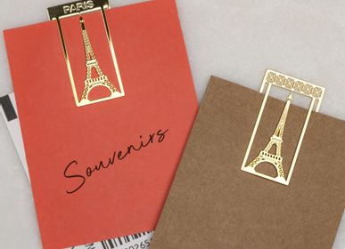 Office set - Stainless steel paper clips - Eiffel Tower - TOUT SIMPLEMENT,