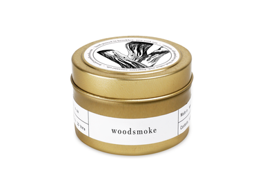 Autres fournitures bureau  - Woodsmoke Gold Travel Bougie - BROOKLYN CANDLE STUDIO