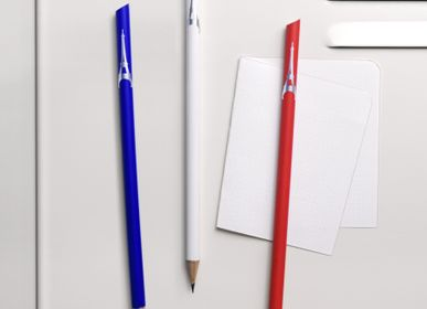 Pens and pencils - Eiffel Tower blue white red magnetic pencil - TOUT SIMPLEMENT,