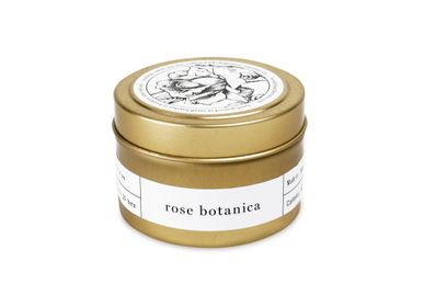 Installation accessories - Rose Botanica Gold Travel Candle - BROOKLYN CANDLE STUDIO