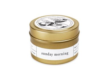 Decorative objects - Sunday Morning Gold Travel Candle - BROOKLYN CANDLE STUDIO