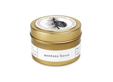 Office supplies - Montana Forest Gold Travel Candle - BROOKLYN CANDLE STUDIO