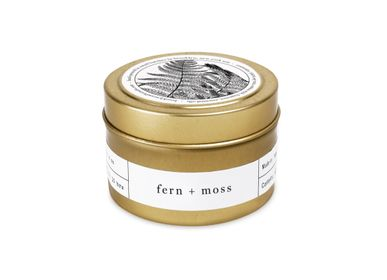 Decorative objects - Fern + Moss Gold Travel Candle - BROOKLYN CANDLE STUDIO