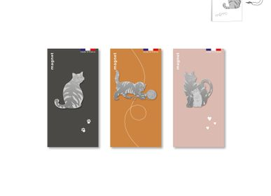 Gift - stainless steel magnet cats - TOUT SIMPLEMENT,