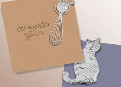 Gift - Stainless steel magnet - Cats - TOUT SIMPLEMENT,