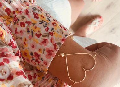 """Bijoux - Manchette le cœur à la perle """"fil sparkle"""" - PADAM PADAM"""