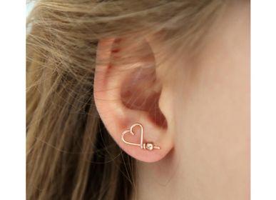 Bijoux - Pin's d'oreilles mon coeur - PADAM PADAM