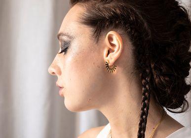 Bijoux - boucles d'oreilles - créoles VEGA - PEAU DE FLEUR