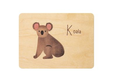 "Stationery / Card shop / Writing - Woodhikids card ""Koala"" - WOODHI"