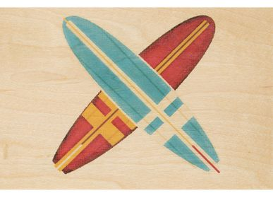 "Card shop - Wood postcard ""Surf"" - WOODHI"