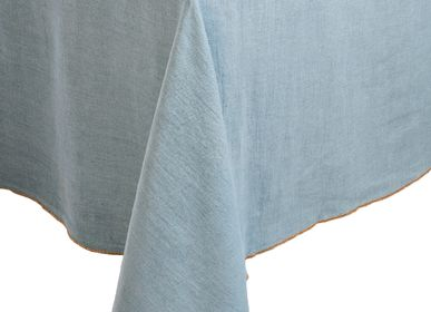 Kitchen fabrics - Apotheca 100% washed linen tablecloths - APOTHECA - LUXURY FRAGRANCES MADE IN PARIS