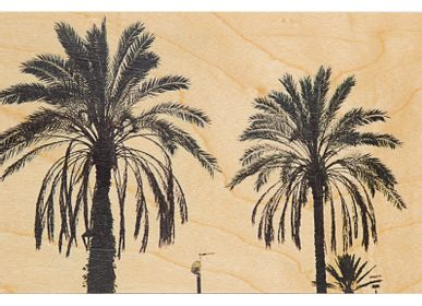 "Card shop - Wood postcard ""Palm"" - WOODHI"