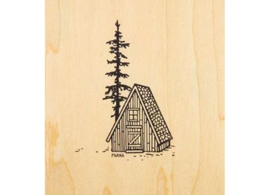 "Card shop - Wood postcard ""Refuge"" - WOODHI"