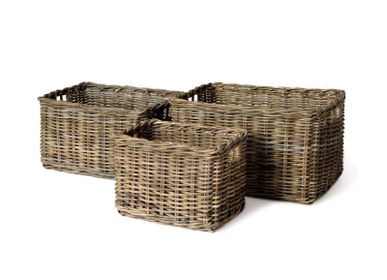 Decorative objects - Cupboard basket rect. s/3 - SEMPRE LIFE