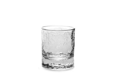Crystalware - Whiskey glass cracked small - SEMPRE LIFE