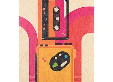 "Stationery / Card shop / Writing - Wood postcard ""Tokyo 82"" - WOODHI"