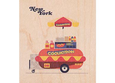 "Stationery / Card shop / Writing - Wood postcard ""NY5"" - WOODHI"