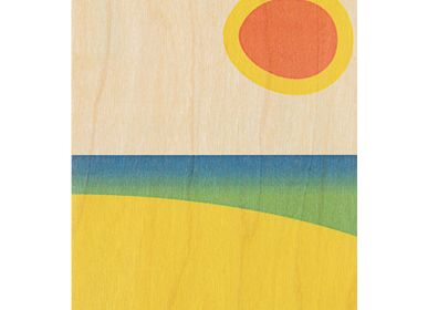 "Stationery / Card shop / Writing - Wood postcard ""Sunset"" - WOODHI"