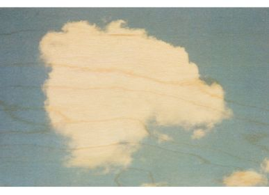 "Stationery / Card shop / Writing - Wood postcard ""Nuage"" - WOODHI"