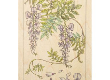"Stationery / Card shop / Writing - Wood postcard ""Glycine"" - WOODHI"