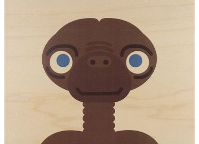 "Birthdays - Wood poster ""ET"" - WOODHI"